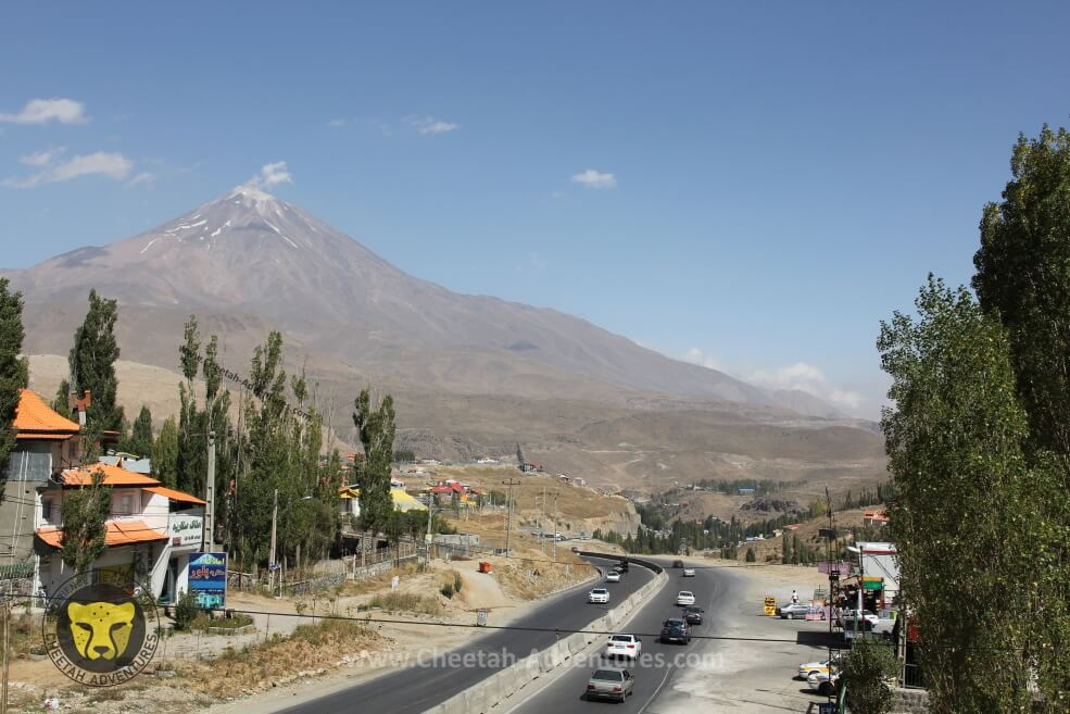 1-Damavand South Face in August from Haraz Road Next to Polour Polur