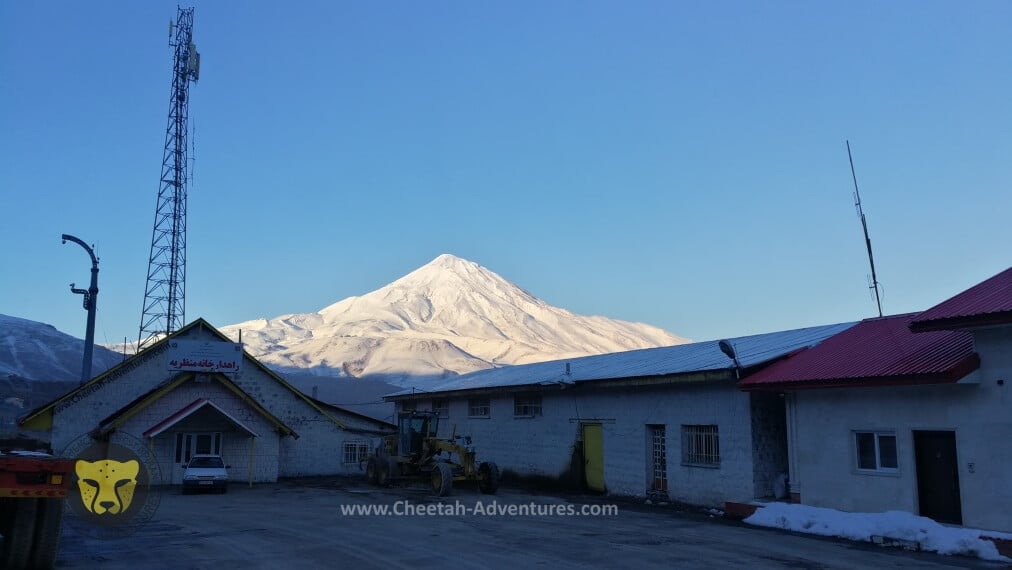 1-Damavand South Face in winter from Polour, Haraz Road