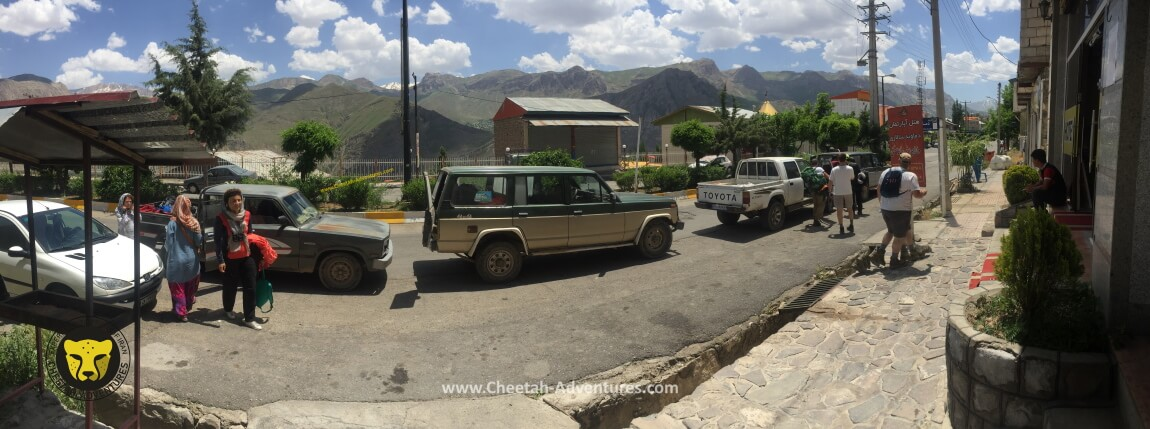 1-Jeeps to drive the team to Goosfandsara, Rineh Village (2)