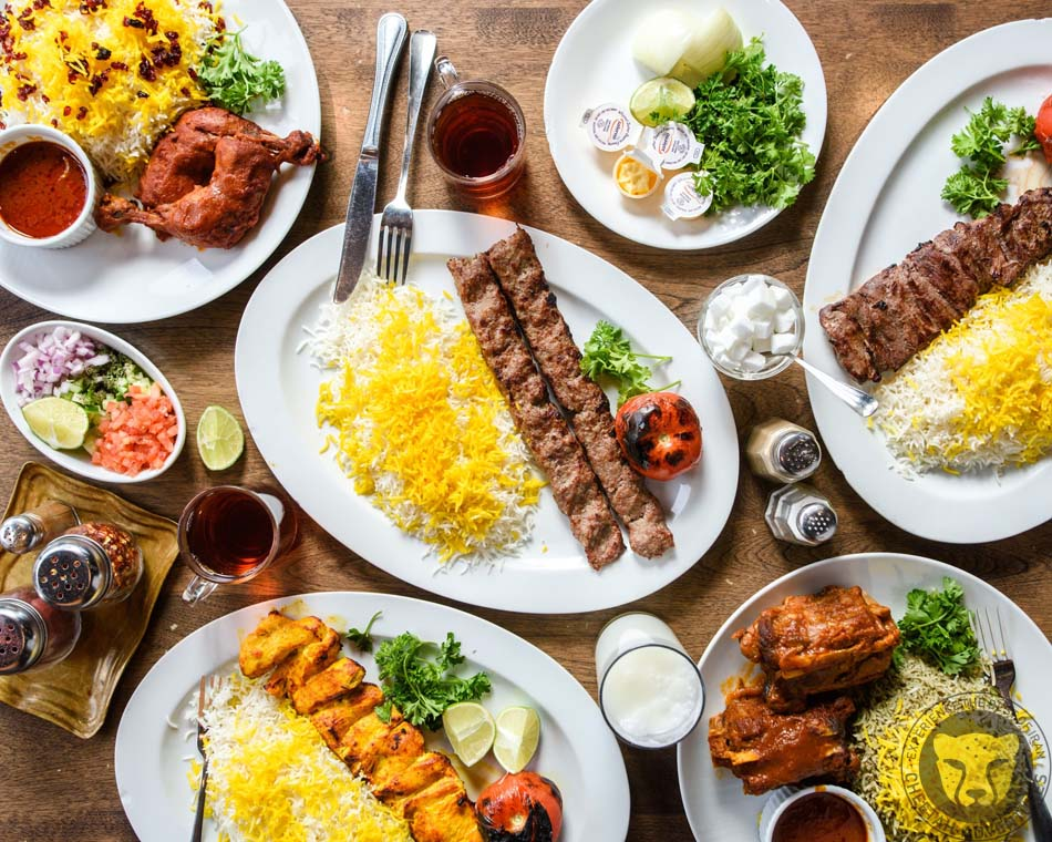 2-Iranian dishes in a nice Restaurant in Darband, Tehran, Tochal Trekking Tour