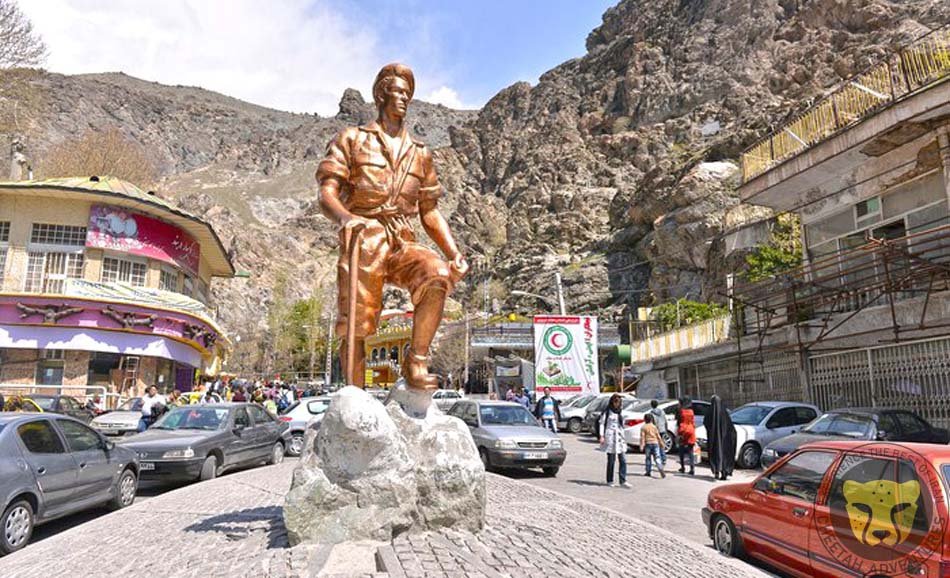 Mountaineer Statue, Darband, Tehran, Tochal Trekking Tour iran tour package visit iran travel