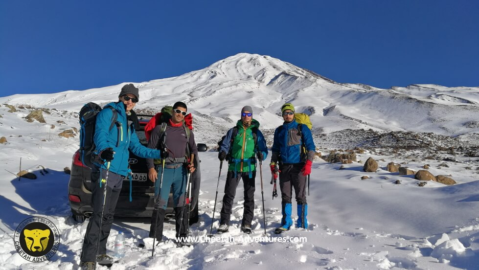 2-On the way to Goosfandsara basecamp in winter, Mount Damavand