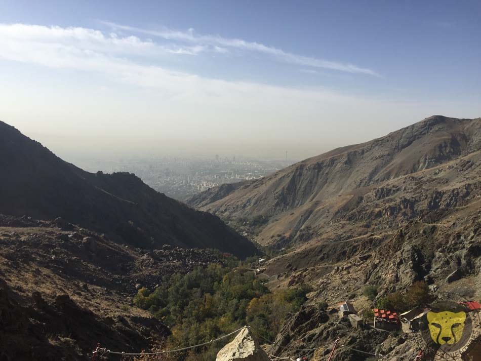 3-A view from Tehran at 2500m, on the way to Shirpala Hut, Tochal Trekking Tour