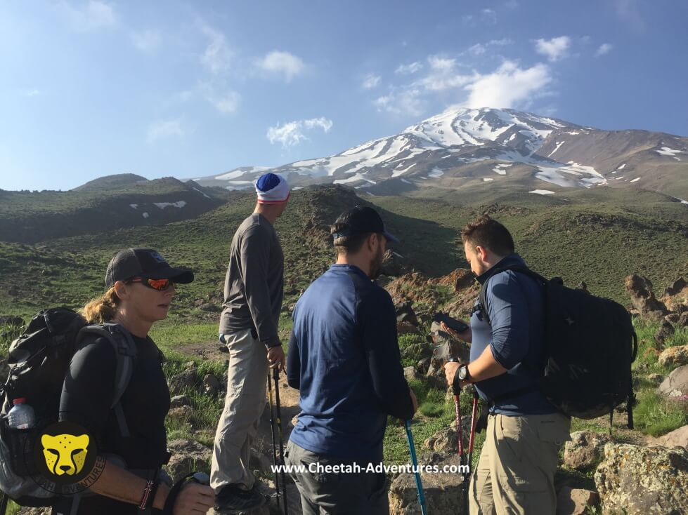 3-Acclimatization trek above Goosfandsara at 3300m, Damavand South route