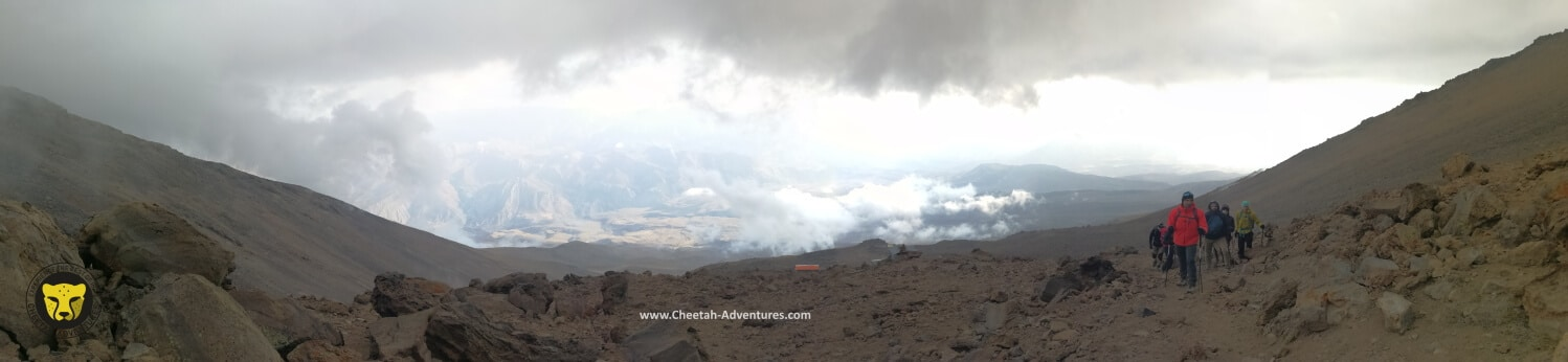4-A panoramic view above Bargah-e Sevom Hut, acclimatization