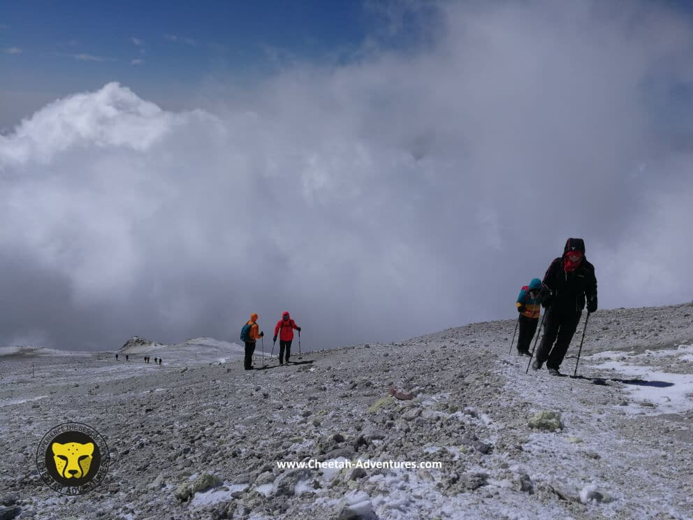6-Sulfur Hill at 5500m, last steps to the top of Damavand