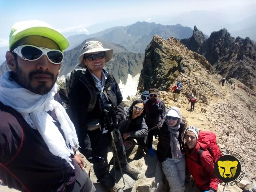 6-on the top of Alamkuh (4850m), the second highest peak in Iran