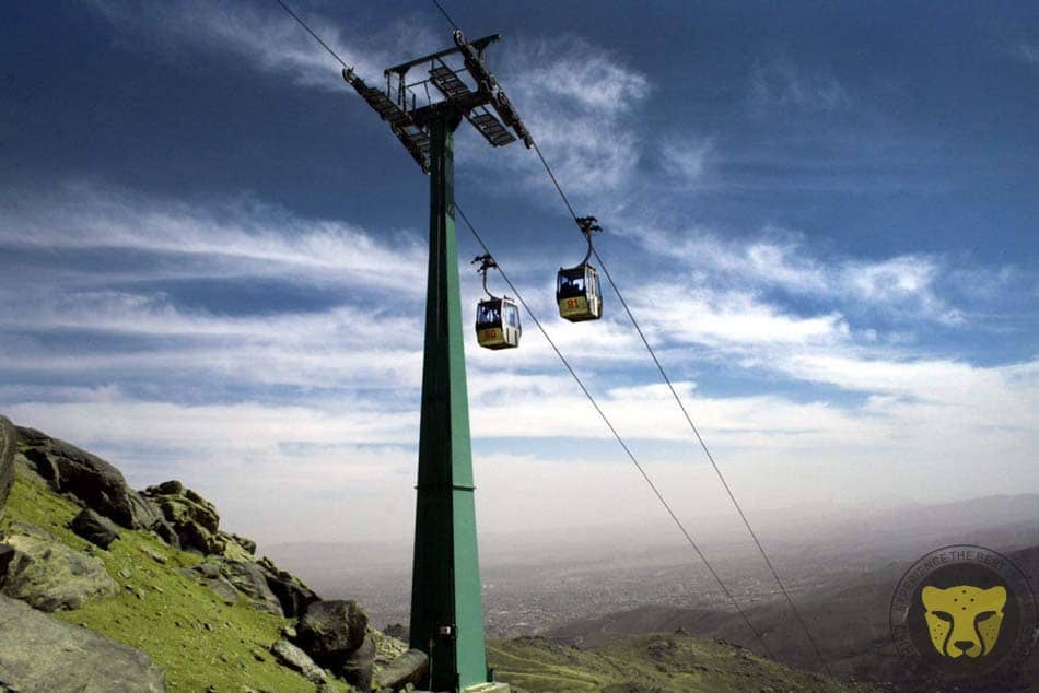 Cable Car from Tochal to Tehran