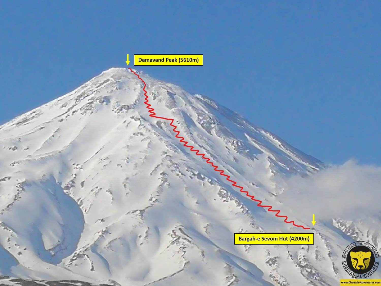 00 Damavand Ski Touring Trip Map 2