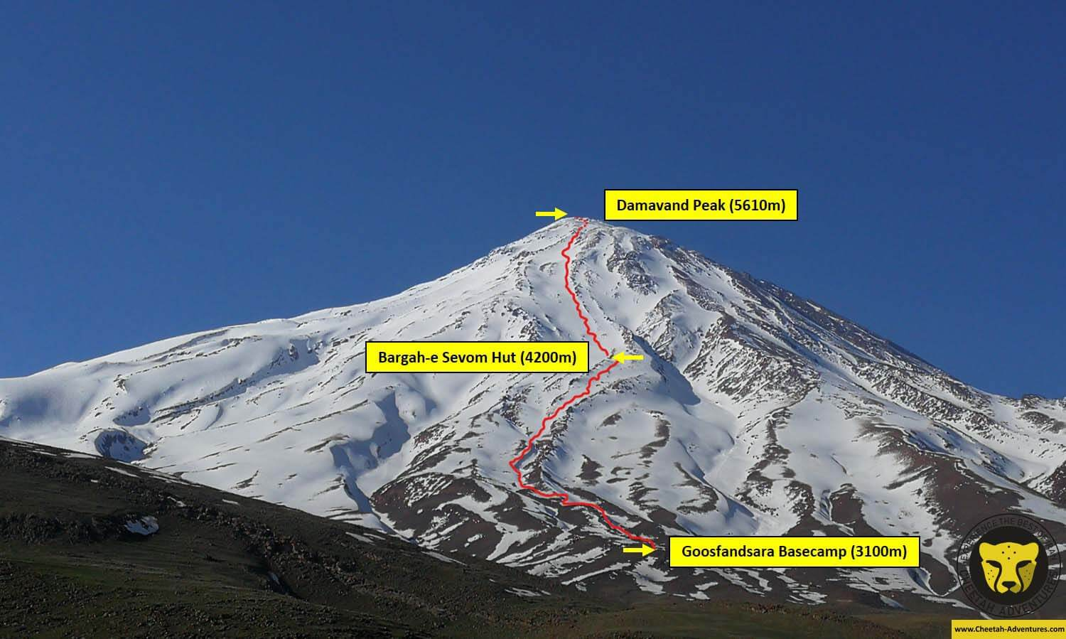 00 Damavand Ski Trip Map 1