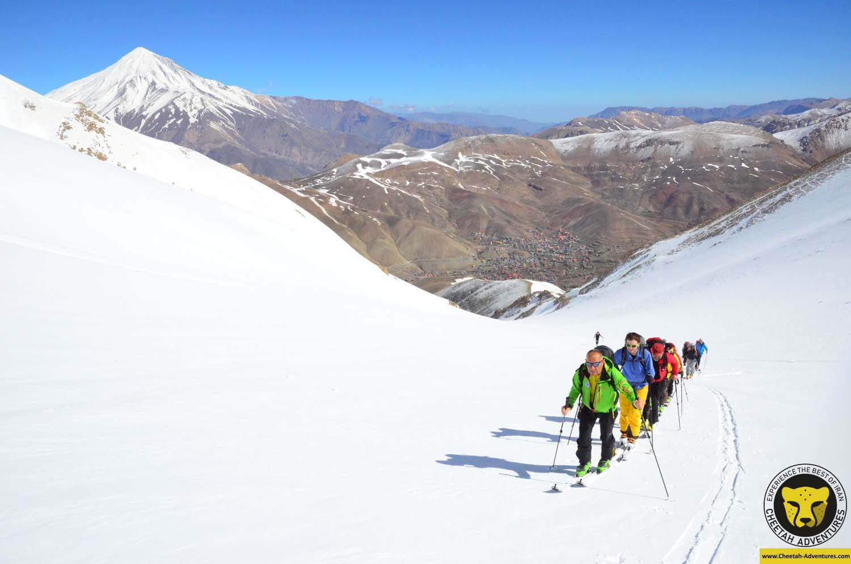 3 Ski touring on Doberar Range, to the summit of Angemar Peak (4050m), Damavand ski tour
