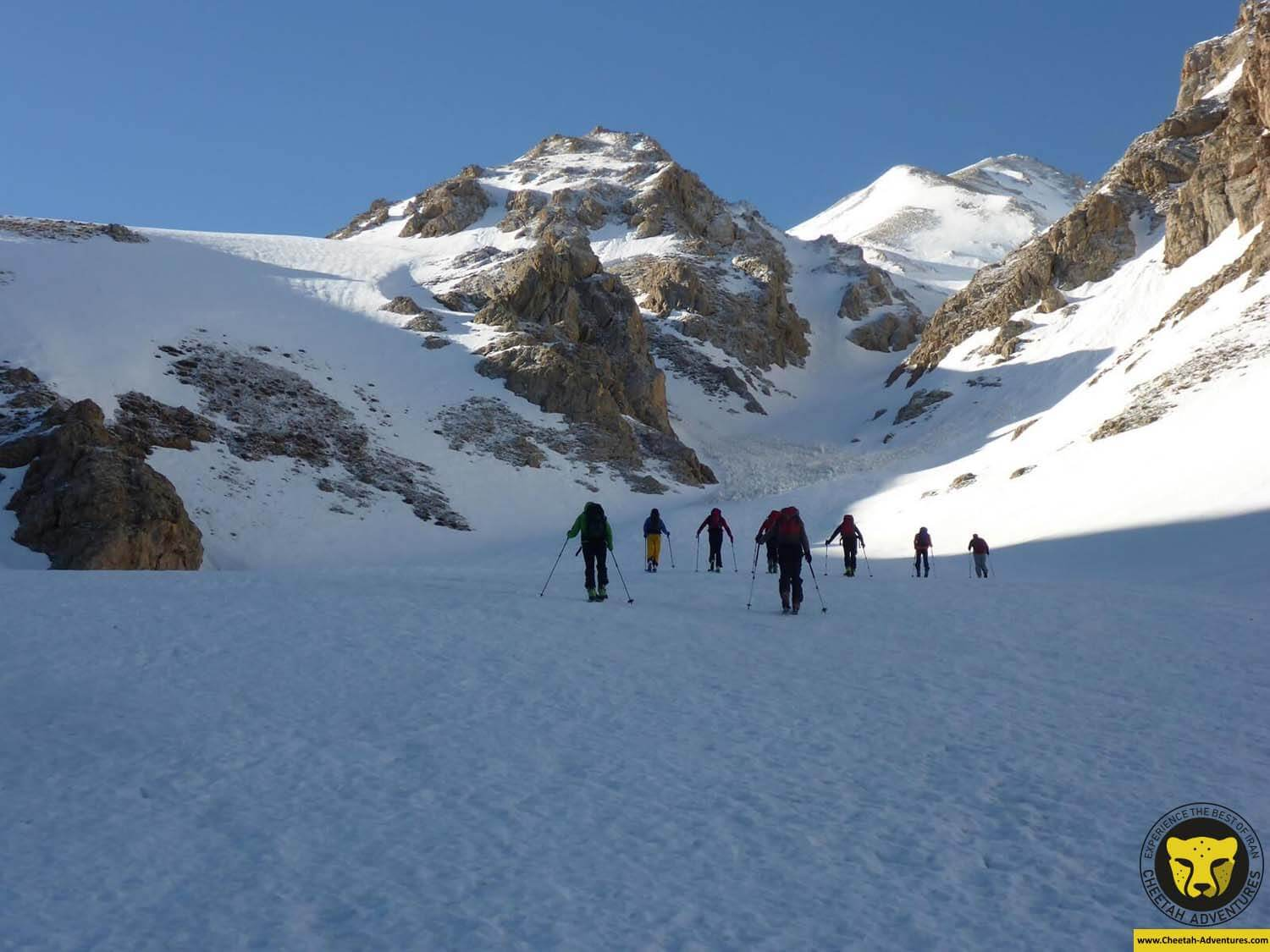 3 Ski touring on Doberar Range, to the summit of Angemar Peak (4050m)