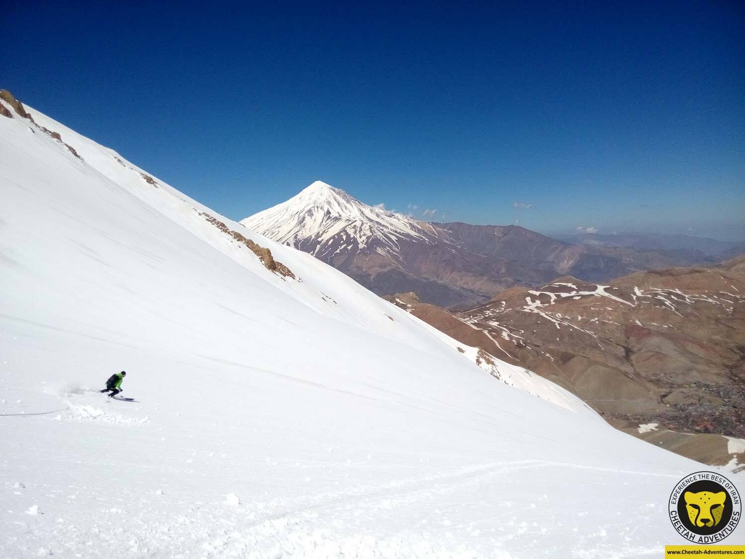 3 Skiing on Angemar Peak (4050m), Doberar Mountain Range, Damavand Ski Tour