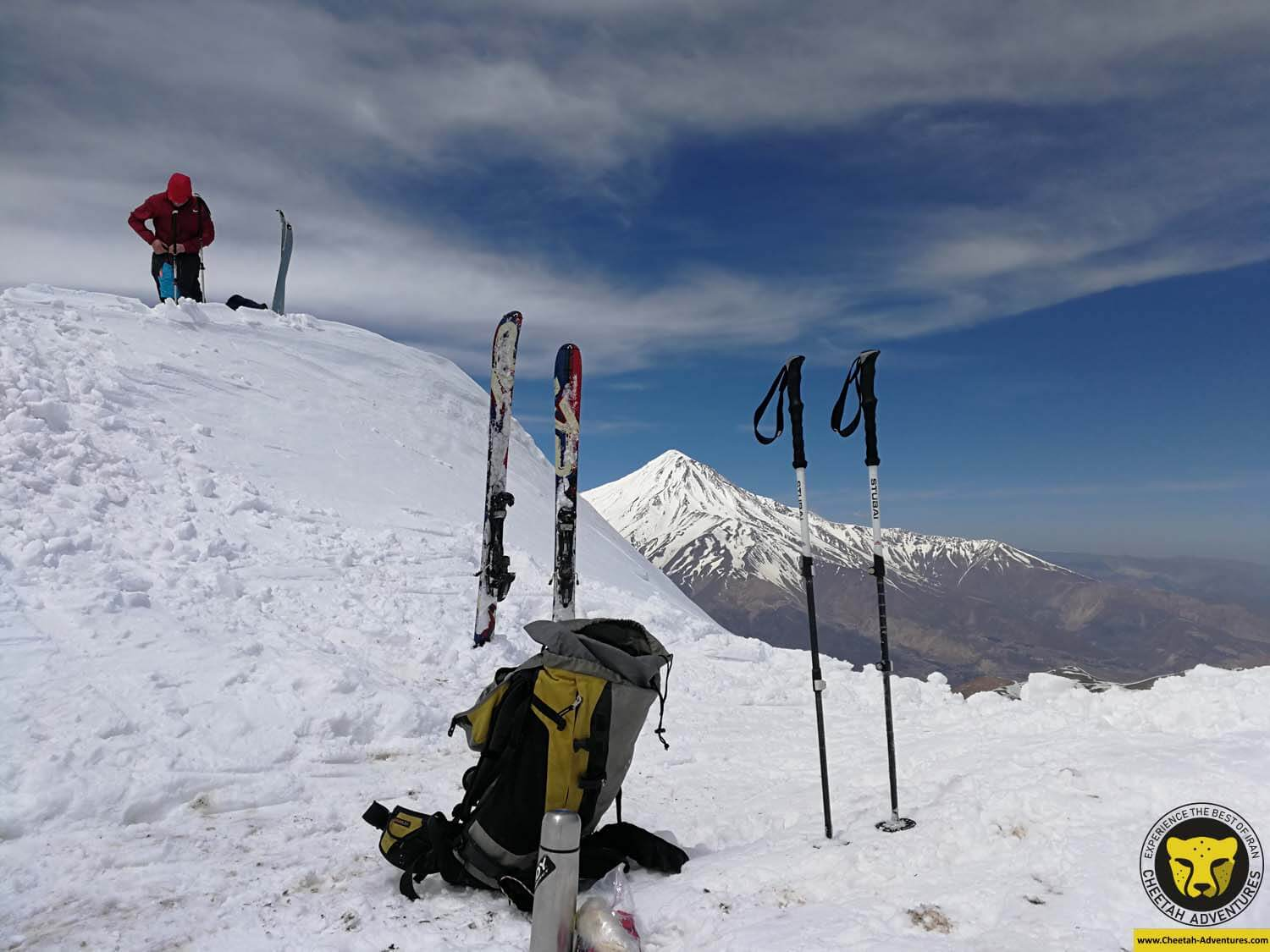 4 On the summit of Doberar (4250m), Damavand Ski Touring