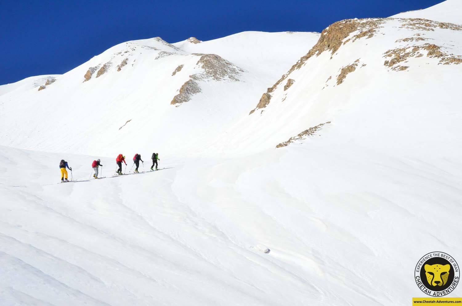 4 Ski touring To the summit of Doberar Peak (4250m), Damavand Ski tour