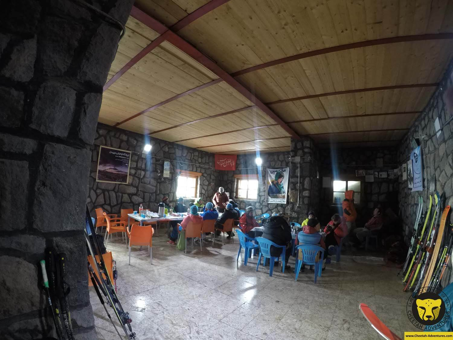5-4 Dining room at Bargah-e Sevom Hut (4200m), Damavand Ski Touring
