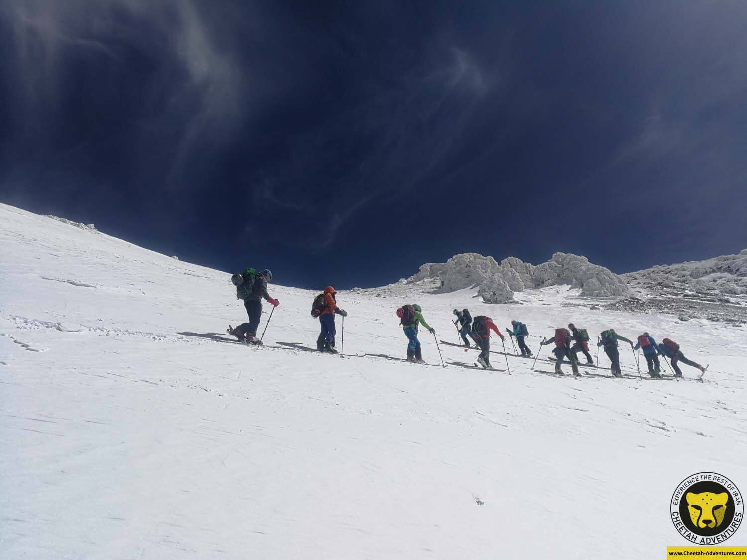 6-2 Damavand summit day, ski touring above 5000m, Damavand Ski tour