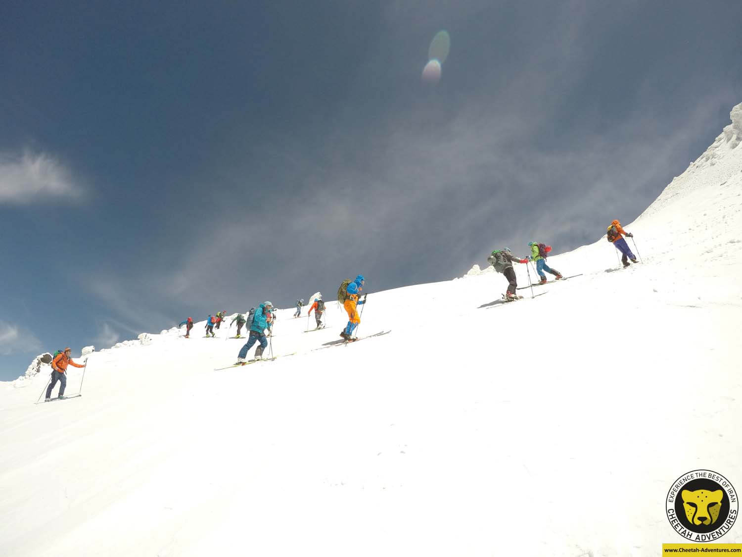 6-3 On the way to Damavand Summit at 5200m, Damavand Ski Touring travel iran tour package visit