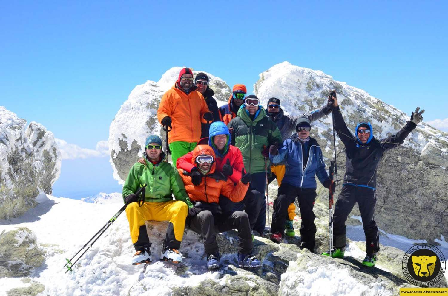 6-6 Damavand Summit (5610m) with a multinational group form Germany, Switzerland and Austria, Damavand Ski Touring