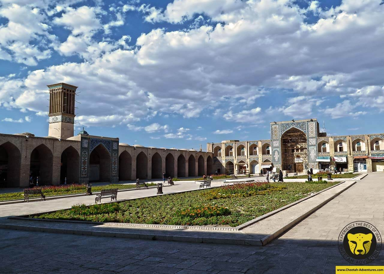 Ganjali Khan square Kerman travel guide iran tour package trip cheetah adventures