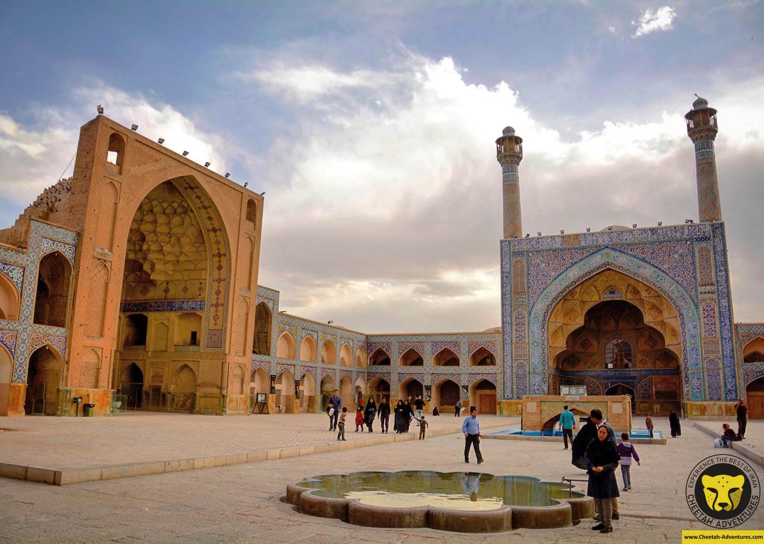 Jameh mosque of Isfahan (Masjed-e Jameh) or Atiq mosque