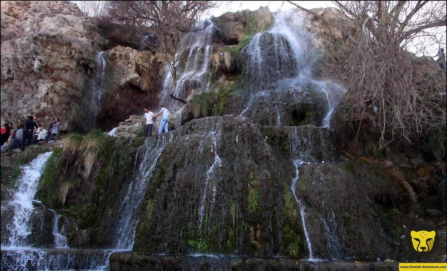 Niasar watelfall in kashan tour visit iran package cheetah adventures com