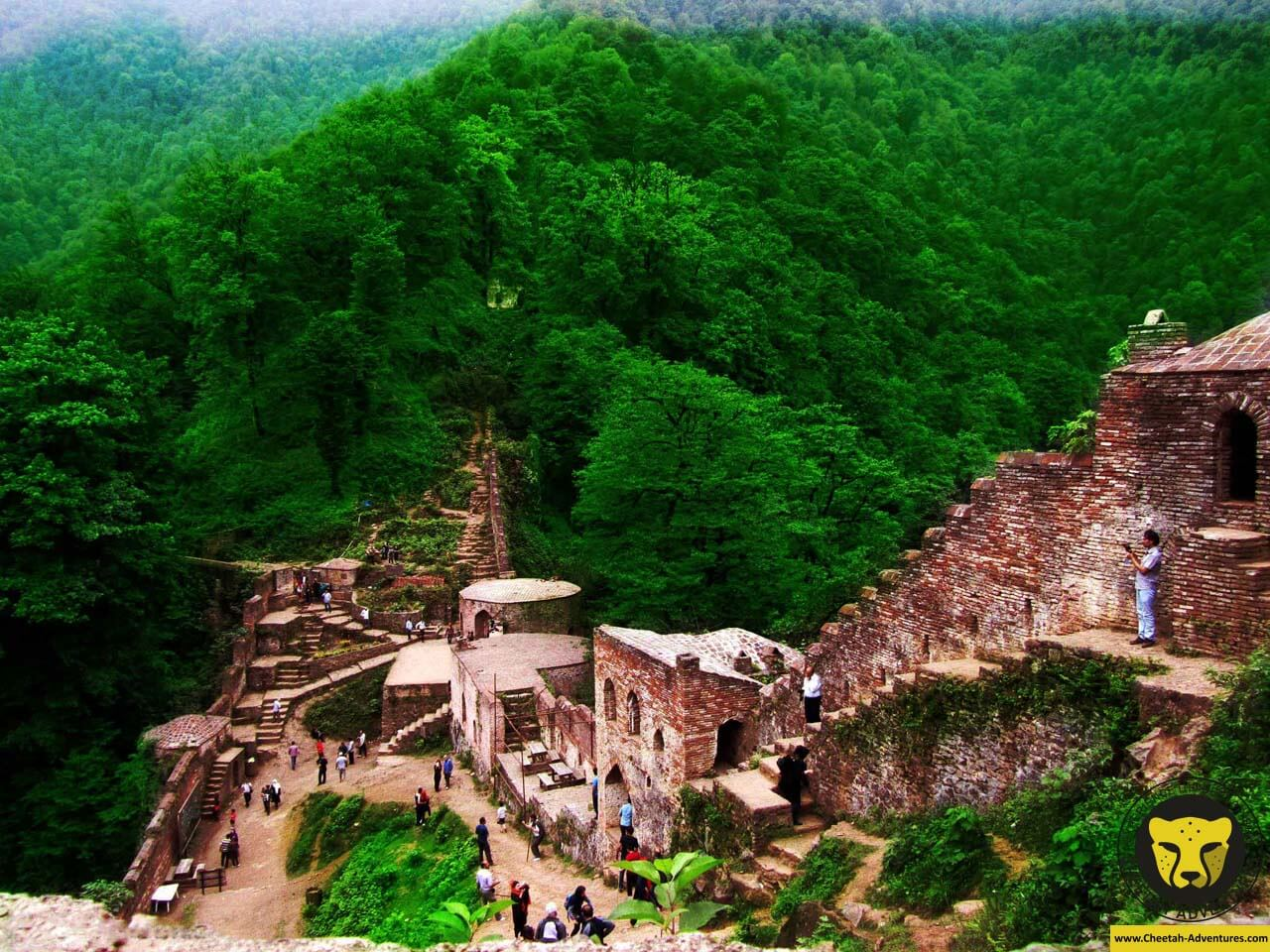 Rudkhan Castle ( Qal'eh Rukhan) rasht iran tour guide package travel cheetah adventures