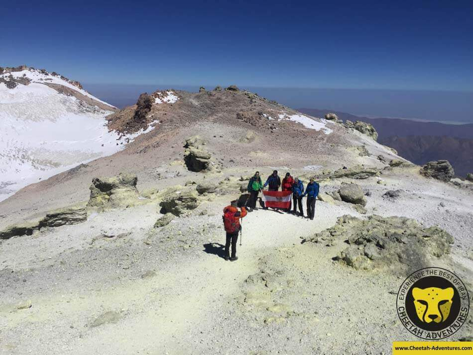 Damavand Summit (5610m), Damavand Volcanic Crater, Damavand North Eastern Ridge