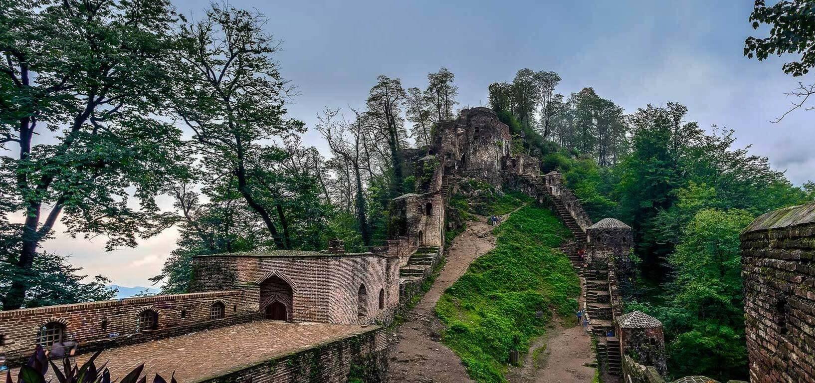 Rudkhan Castle ( Qal'eh Rukhan) rasht iran tour guide package travel cheetah adventures 2