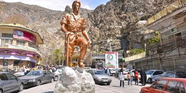 2-Mountaineer Statue, Darband, Tehran, Tochal Trekking Tour