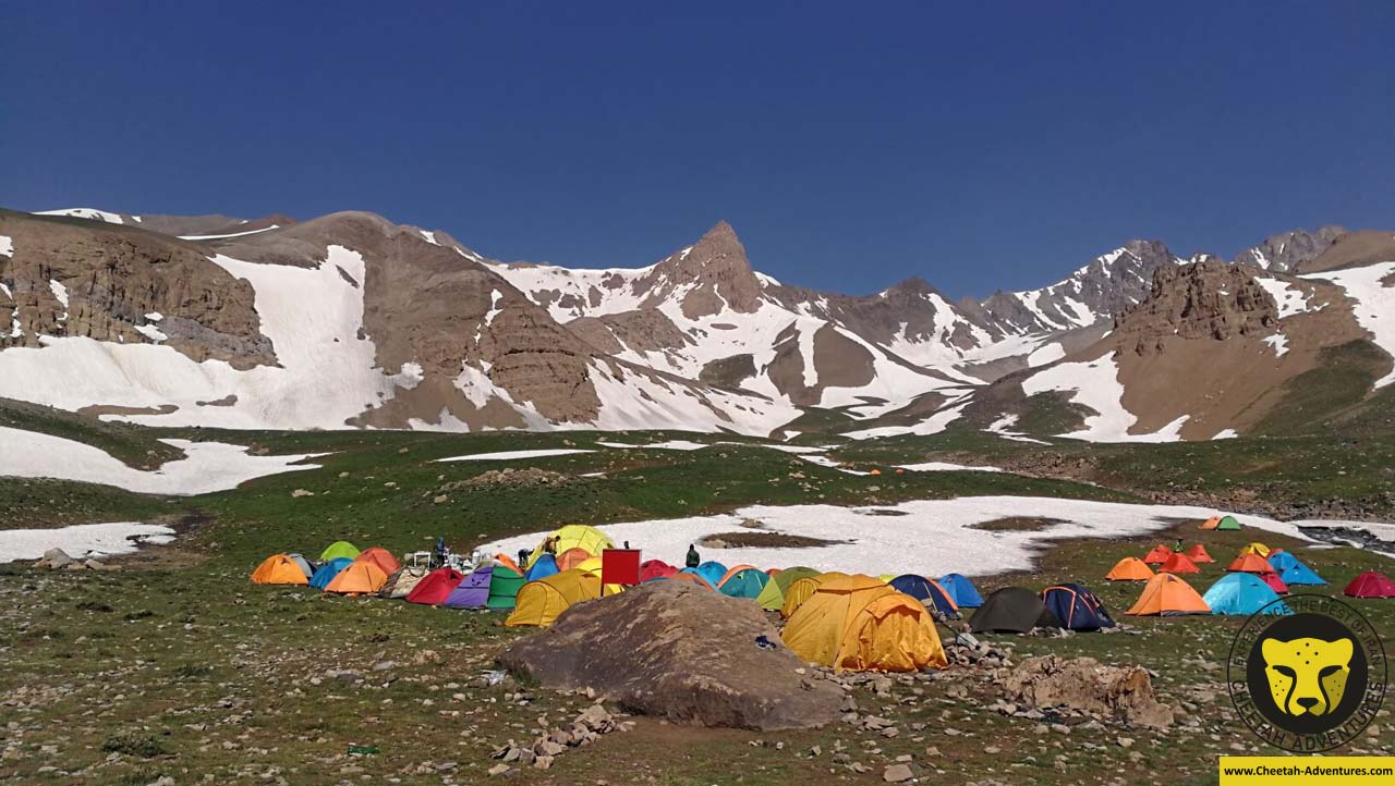 3-Hesarchal Camp (3800m), Alamkuh South Face climbing tour package