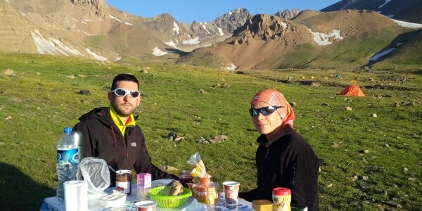 Alamkuh Trekking Tour package iran cheetah adventures alam kuh South Face