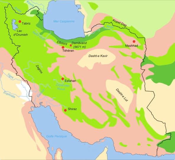 Map_iran_biotopes iran deserts explained dasht e kavir dasht e lut deserts