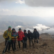 5-Acclimatization above Bargah-e sevom Hut-Mount Damavand Difficulty Trekking Tour Climbing Guide,