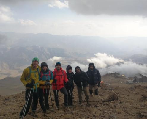 5-Acclimatization above Bargah-e sevom Hut-Mount Damavand Difficulty Trekking Tour Climbing Guide,