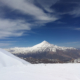 A brilliant view of Damavand (5610m) from the top of Doberar Peak (4250m) Mount Damavand Elevation height relative