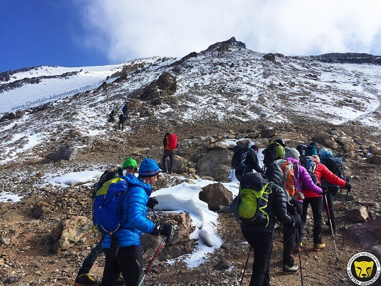 Damavand Fake Summit-mount damavand mountain trekking tour