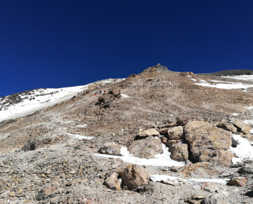Mount Damavand Fake Summit or Triangle Shaped Rock at 5300m - Damavand Tour Trekking