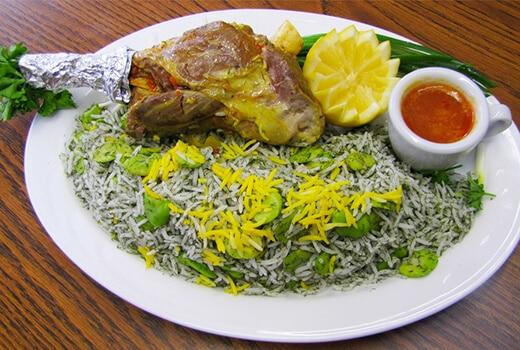 Baghali Polo-Iranian dishes-Iran Culture