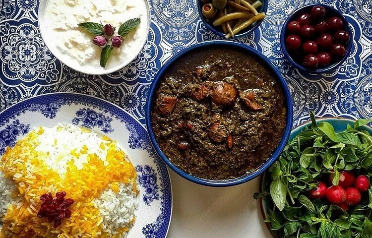 Ghormeh Sabzi-Iranian dishes-Iran Culture