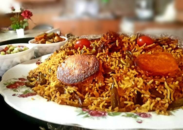 Loobia Polo-Iranian dishes-Iran Culture