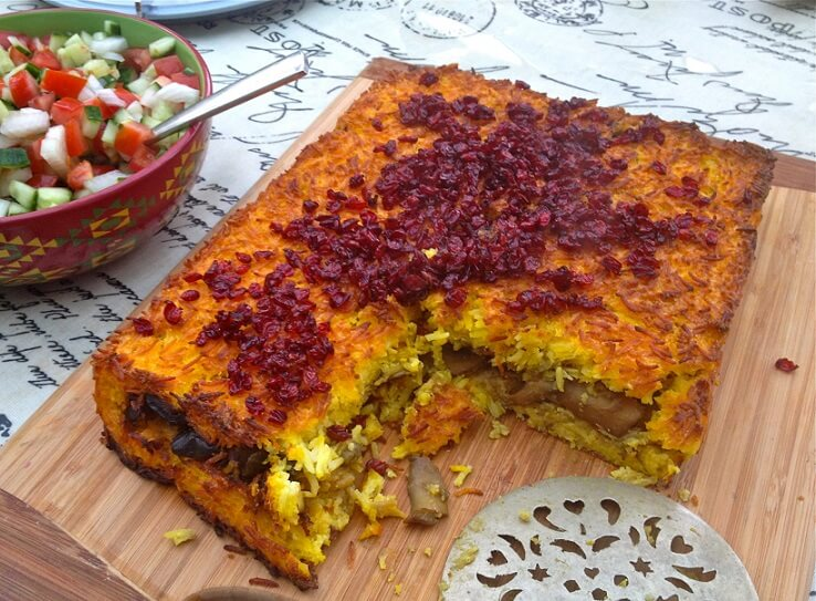 Tahchin-Iranian dishes-Iran Culture