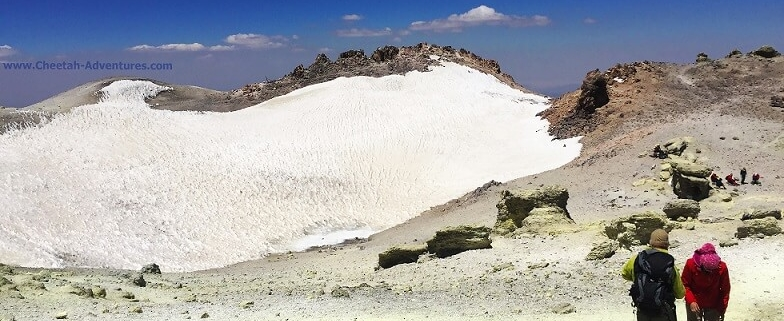 Damavand summit lake- mount damavand mountain trekking tour
