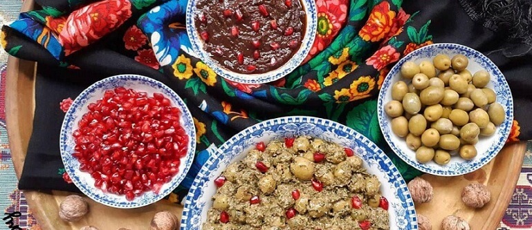 Zeytun Parvardeh (Persian Marinated Olives)-Iranian food-Iran culture