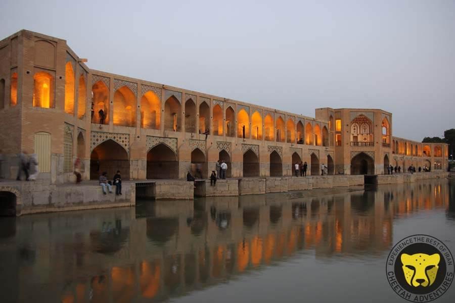 Iranian people chilling around Khaju Bridge, Zayandeh Rud River, Isfahan, Iran Tour visit iran tour package travel iran trip