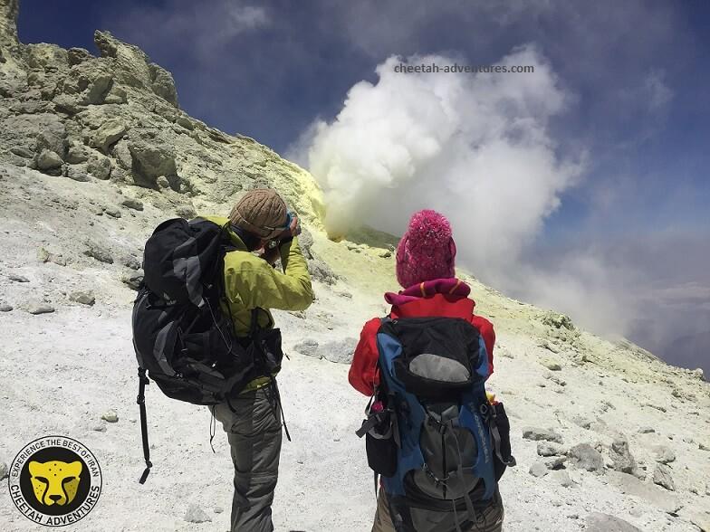 Damavand Volcanic Crater-mount damavand mountain trekking tour