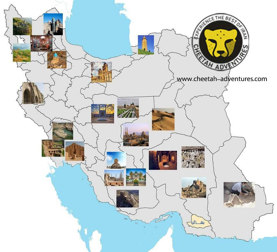 Iran UNESCO World Heritage Sites visit iran tour travel guide attractions things to do destinations Cheetah adventures