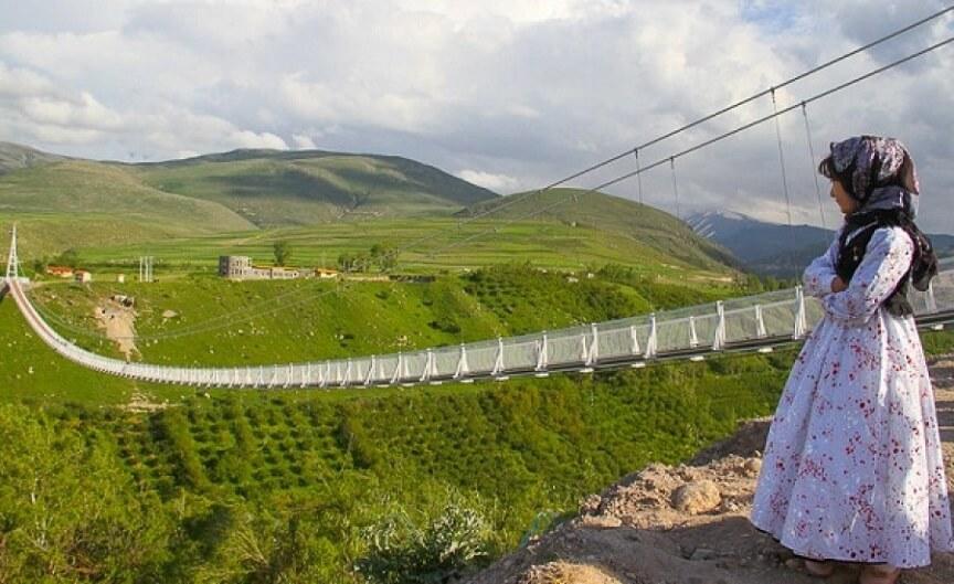 Suspension bridge of Meshgin Shahr ardabil mount sabalan mountain trekking tour iran travel guide attractions things to do destinations Cheetah adventures