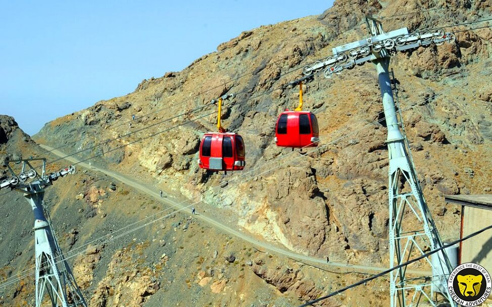 cable car (Tochal telecabin) Mount Tochal tehran iran mountain trekking tour iran travel guide attractions things to do destinations Cheetah adventures
