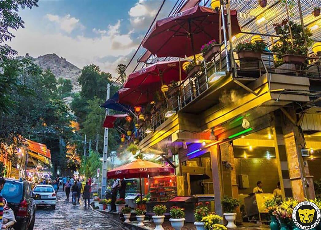 Darband restaurant tehran iran mountain trekking tour iran travel guide attractions things to do destinations Cheetah adventures